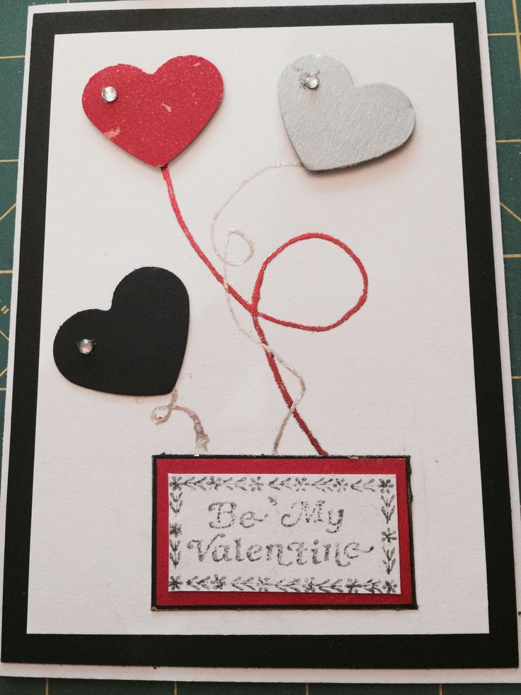 Valentines Card - Heart Balloons