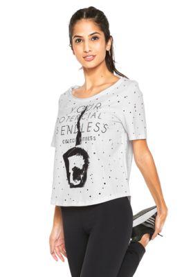 bd6c74b35 Camiseta Colcci Fitness Estampada Branca | Camisetas com mensagens ...