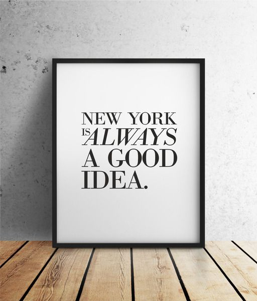 New York Poster // quote poster via DaWanda.com