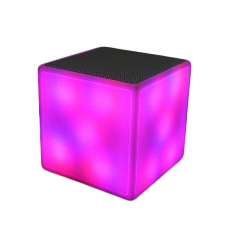 FIRST Cube Music Flash Bluetooth Speaker Stereo Surround Sound Different LED Light Color Changing SpeakerCube Bluetooth Speaker offers beautiful multi color flash light effect and high quality stereo sound enjoyment with portability. This small and powerful speaker is perfect as bedside radio and music player and also can be taken on vacation, camping ,friends gathering ,party ,bar, nighlight use. Flash rainbow multi color flash light unique designed. Perfect stereo sound. Feature special...