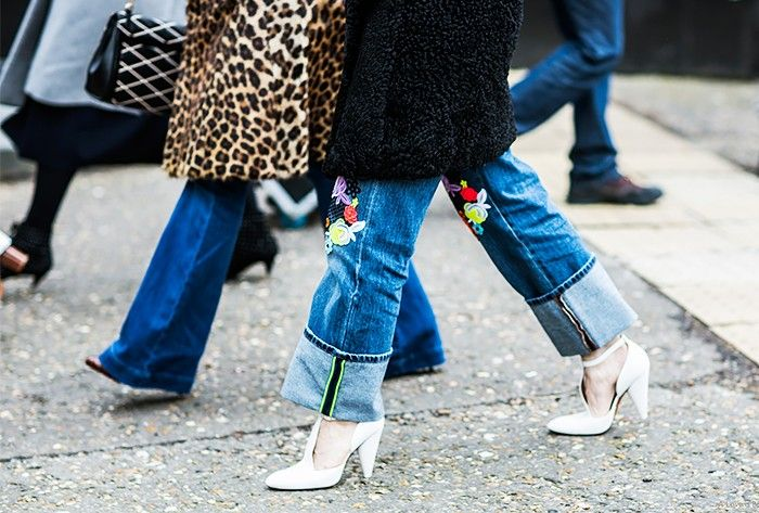 The New Way to Style Your Jeans This Winter via @WhoWhatWear