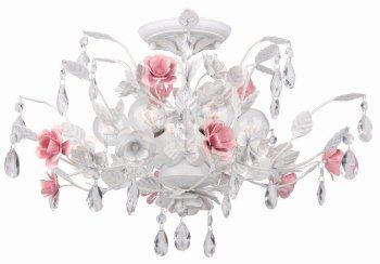 Pretty rose ceiling mount chandelier