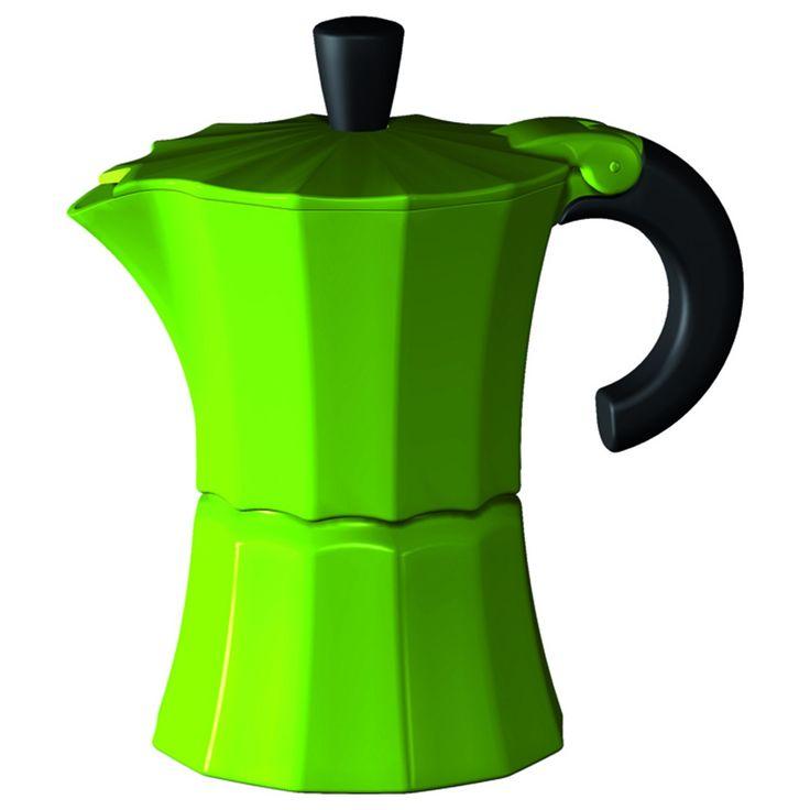 "GNALI & ZANI""MOROSINA COFFEE MAKER 1 TASSE GRÜN"" | Buy @ inhoma24.de #Inhoma #Kuchen #Dekoration #Küchenaccessoires"