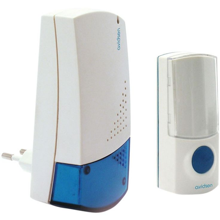Ασύρματο κουδούνι AVIDSEN 102303Με πλήκτρο για εξωτερικούς χώρουςΕμβέλεια 80τ.μ.8 επιλεγόμενοι πολυφωνικοί ήχοιΠροσωπική κωδικοποιήση με dip-switches