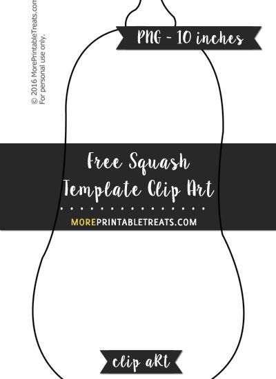 Free Squash Template Clipart Thanksgiving Printables