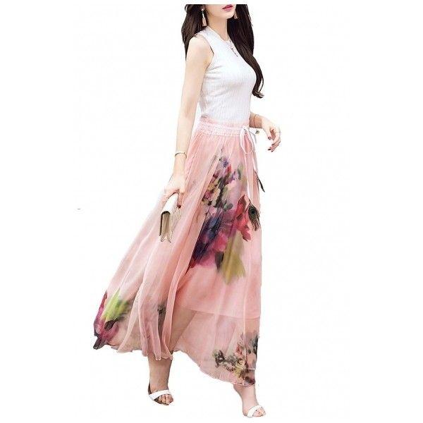 best 20 pleated chiffon maxi skirt ideas on