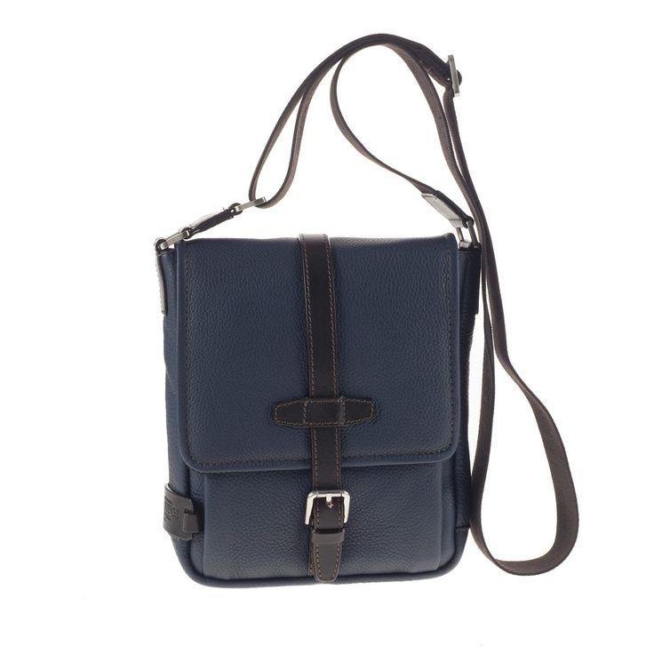 CHIARUGI - Borsa Tracolla 72606 blue #leather #leatherbag #men
