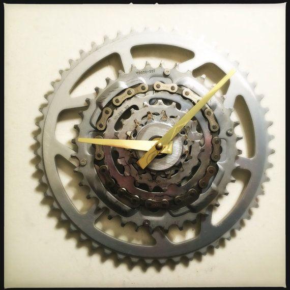 Fahrrad-Gear-Wanduhr Steampunk Bike Gear Clock von DreamGreatDreams