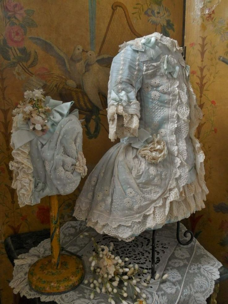 ~~~ Marvelous French Muslin Bebe Costume with Bonnet ~~~ from whendreamscometrue on Ruby Lane