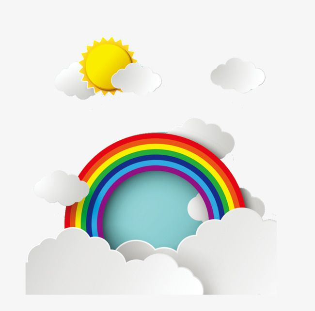 Cartoon Rainbow Cartoon Rainbow Sun Png Transparent Clipart Image And Psd File For Free Download Rainbow Clip Art Instagram Layout