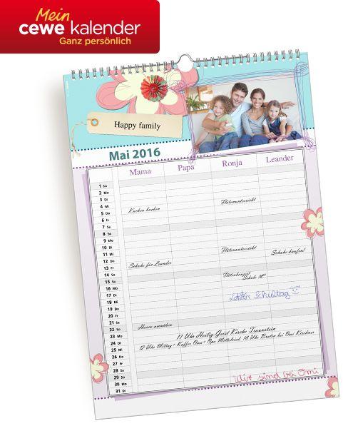 Für alle Termine des Jahres geeignet. Gestalte Deine persönlichen CEWE KALENDER: http://www.cewe.de/fotokalender.html