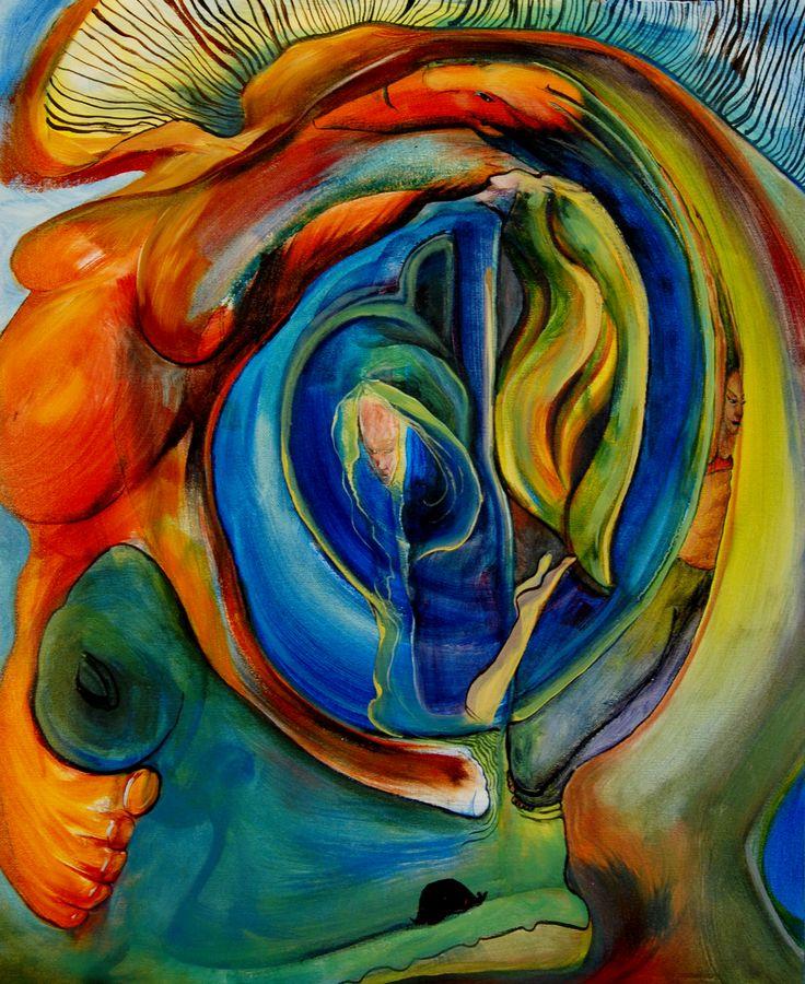 """Blue  original oil on loose 16""""x20"""" canvas $400  also check out Zanna's Attic updates at www.facebook.com/zannasatticgallery"""