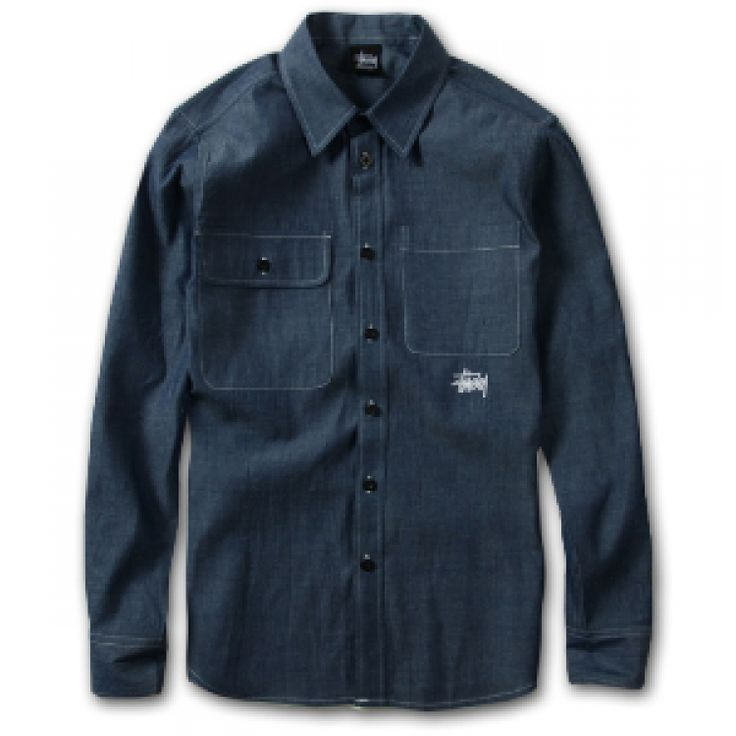 "All of us loves denim! Grab your Stussy ""Double Pocket Oxford"" Button Up Shirt Collection at fusionswag.com #Stussy #fusionswag #buttonup #urbanwear #streetwear #streetfashion"