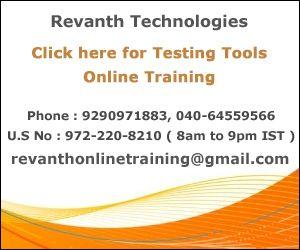 Testing Tools Online Training