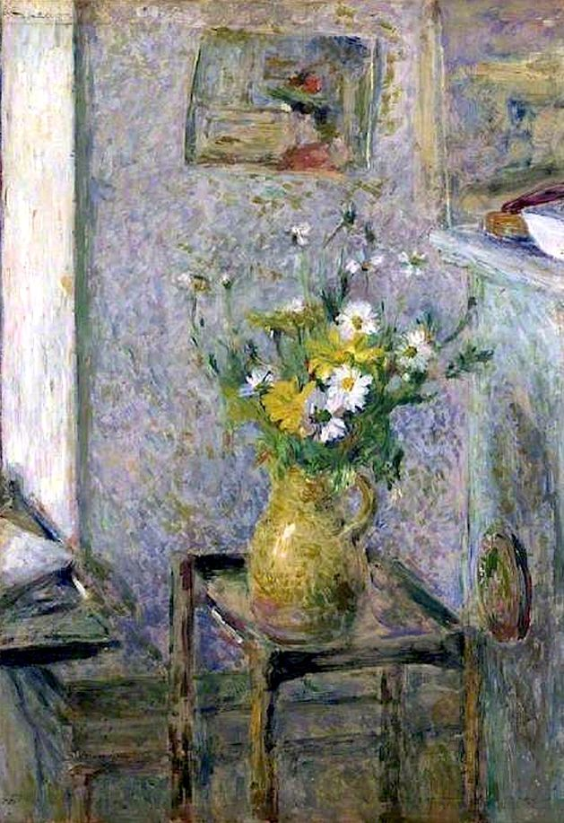 'Stoneware Vase and Flowers' - Édouard Vuillard.
