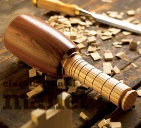 Classic turned mallet Woodworking Plan, Turning Projects Workshop & Jigs Hand Tools