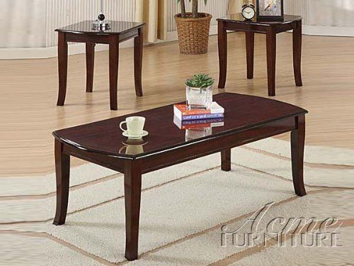 3pc pack coffee end table by acme furniture for Coffee table 40 x 24