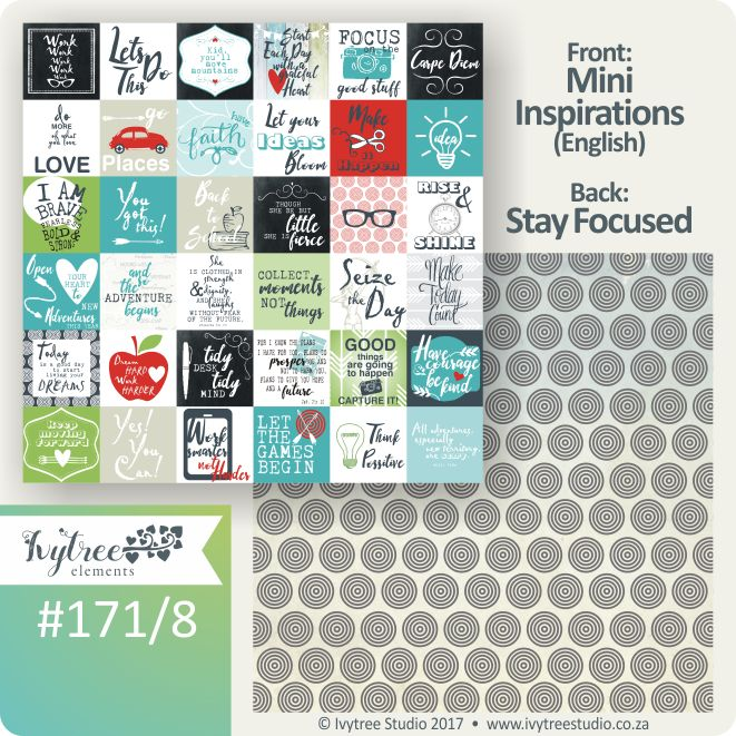 171 Seize the Day Collection - Ivytree Studio - Mini inspiration cards www.ivytree.eshop.co.za