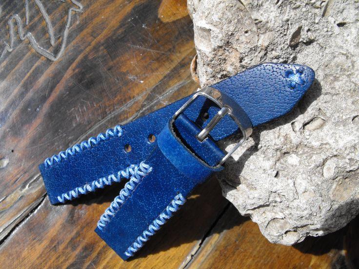 Blue watch strap leather blue strap panerai strap omega watch strap moto 360 watchb valentines giftand retro strap#goriani