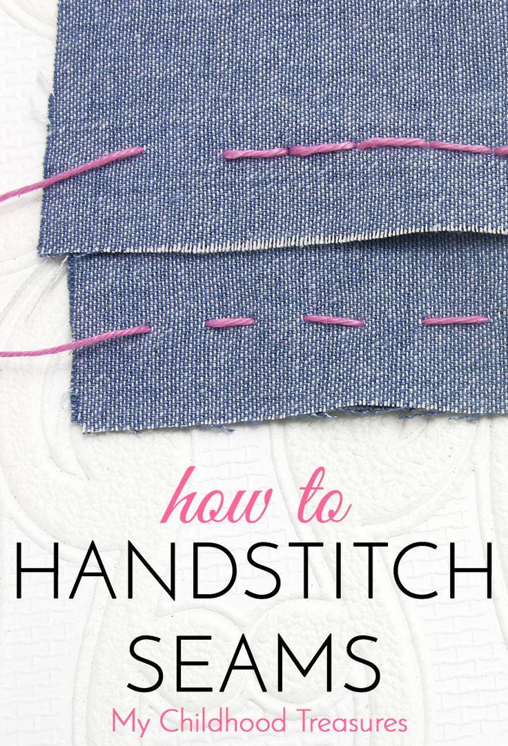 Hand stitching - how to hand stitch a seam with back stitch