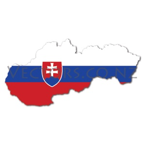 Flag Vector Map of Slovakia
