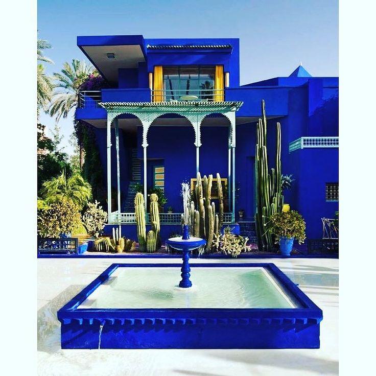 Jardin majorelle marrakesch morocco former residence of for Jardin ysl marrakech