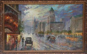 Дождливый Лондон - Городской пейзаж <- Картины маслом <- Картины - Каталог | Универсальный интернет-магазин подарков и сувениров