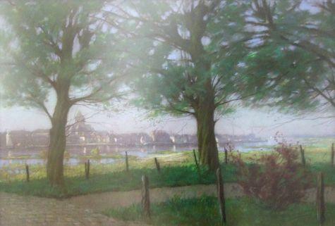 zicht op Kampen, Francois Graafland ( 1879-1939 )