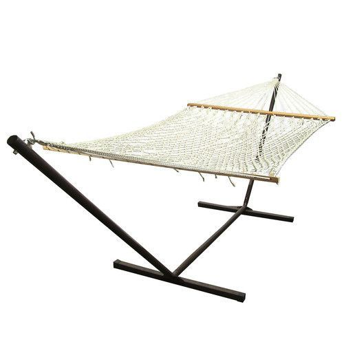 Polyester Rope Hammock & Stand Combo