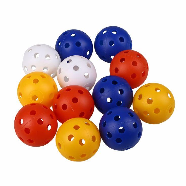 50 Pz Plastica Airflow Hollow Golf Ball Pratica Coperta Formazione Palle Da Golf Accessori Golf Palline di Pratica