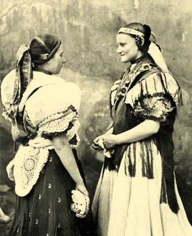 Girls from the village Boldog Boldog, Pest County,Hungary