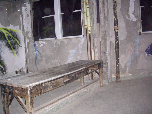 Electroshock room used to try to cure TB at Waverly Hills Sanatorium. (notice the orb, in the left window)