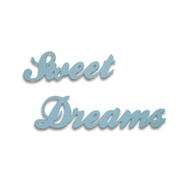 SWEET DREAMS wooden inscription - Rabose Workshop  Wooden, 3D inscription made of plywood.