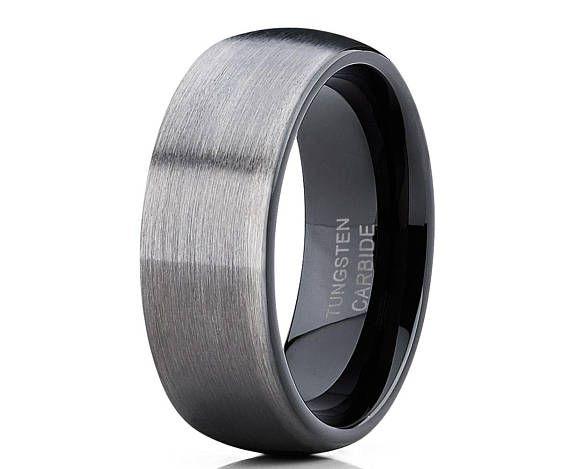 Tungsten Wedding Band,Black Tungsten Ring,Tungsten Carbide,Men /& Women,Brush Tungsten Ring,Anniversary Band,Promise Ring