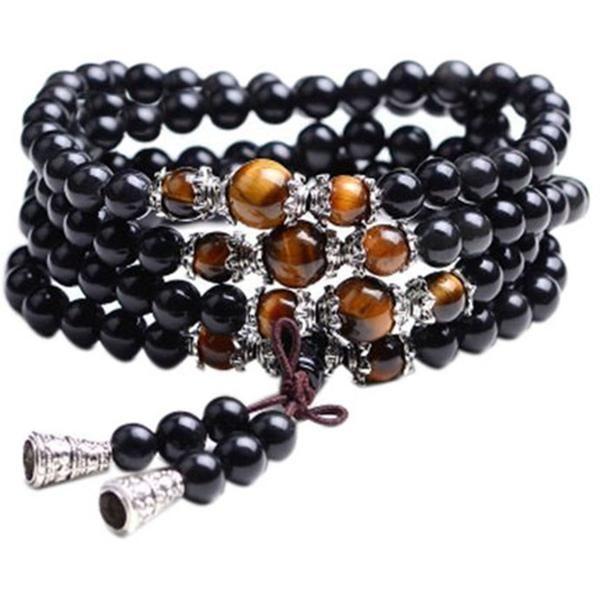 Traditional Buddhist meditation rosary rosewood prayer beads guru tassel bead. Can be used as a bracelet or necklace #108 #prayer #mala #beads #bracelet #necklace #buddha #yogainspiration #yogalove #yoga #meditation #yogaeveryday #yogalifestyle #fitness #yogalife #quote #inspiration #yogagirl