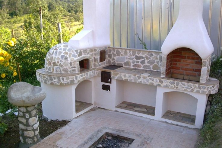 Constructia unui gratar de gradina din boltari si caramida. Detalii pe BricoHub.ro
