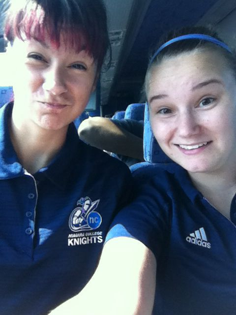 Lexy and I on our first varsity road trip! Love this girl and soccer #collegelife