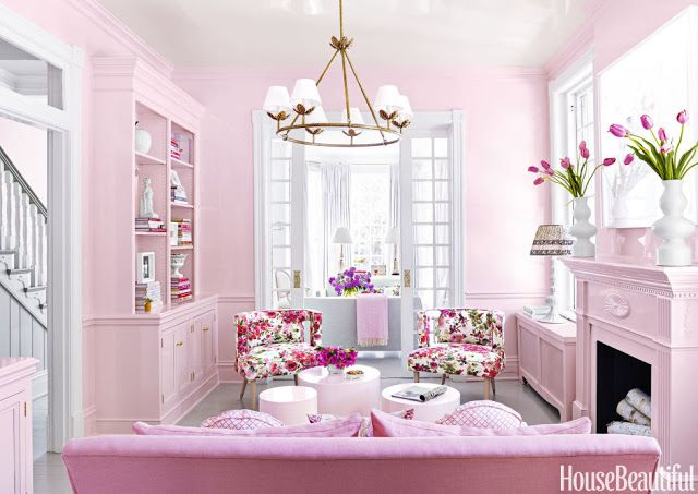 The Glam Pad: Suellen Gregory Designs A Pretty-In-Pink Virginia Townhouse