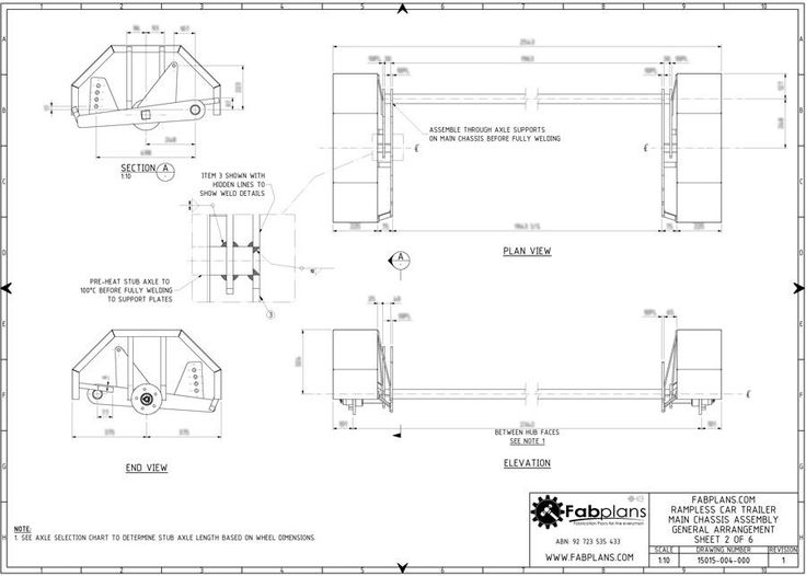 Rampless Car Trailer - Build your own trailer! – fabplans