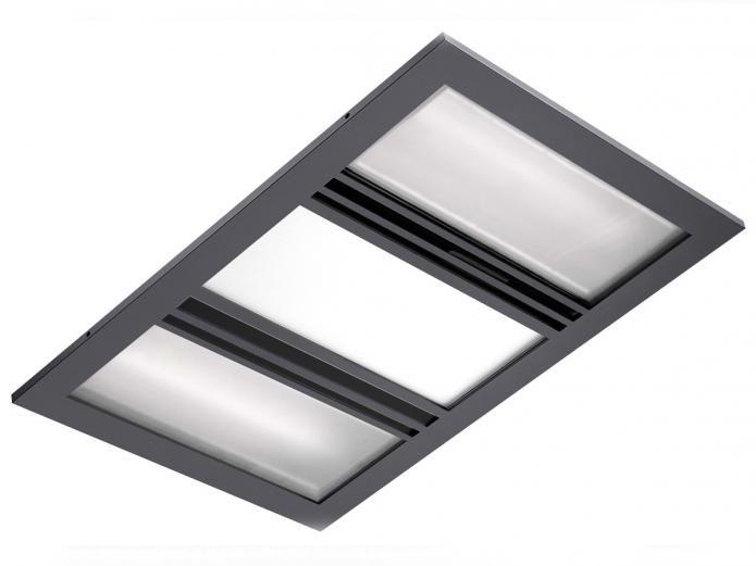 Kado Lux 3 in 1 Heat Lamp Exhaust Silver