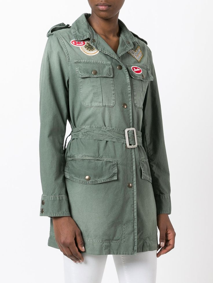 Mr & Mrs Italy Military-Jacke mit Patches