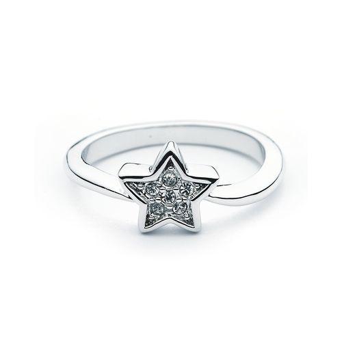 Petite Star Pave Ring with Swarovski® Crystals