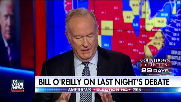 "Bill O'Reilly: At Least 3 Media Orgs Have 'Ordered Employees to Destroy TRUMP ...Published on Oct 10, 2016 At least three media organizations have ""ordered their employees to destroy Donald Trump,"" Bill O'Reilly said . Sitting down with Bill Hemmer to analyze last night's second debate between Trump and Hillary Clinton, O'Reilly said he's ""100 percent convinced"" of the media plot against Trump. ""I'm talking about big conglomerates. ... News organizations..."