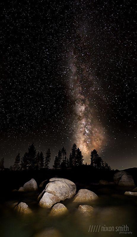 Sand Harbor Milky Way by Nixon Smith on 500px......................... thk::::::::::::::Lake Tahoe, California.