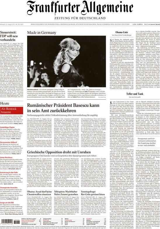 "Nedeljne novine ""Frankfurter Allgemeine"" od sada u e-formatu http://www.personalmag.rs/internet/nedeljne-novine-frankfurter-allgemeine-od-sada-u-e-formatu/"