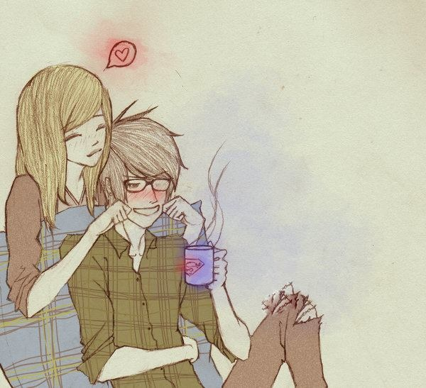 Cute couple drawings image collections