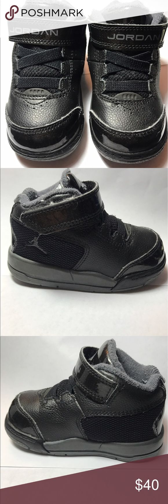 Baby Jordan Shoes Patent Black Leather Baby Jordan shoes Air Jordan Shoes Athletic Shoes