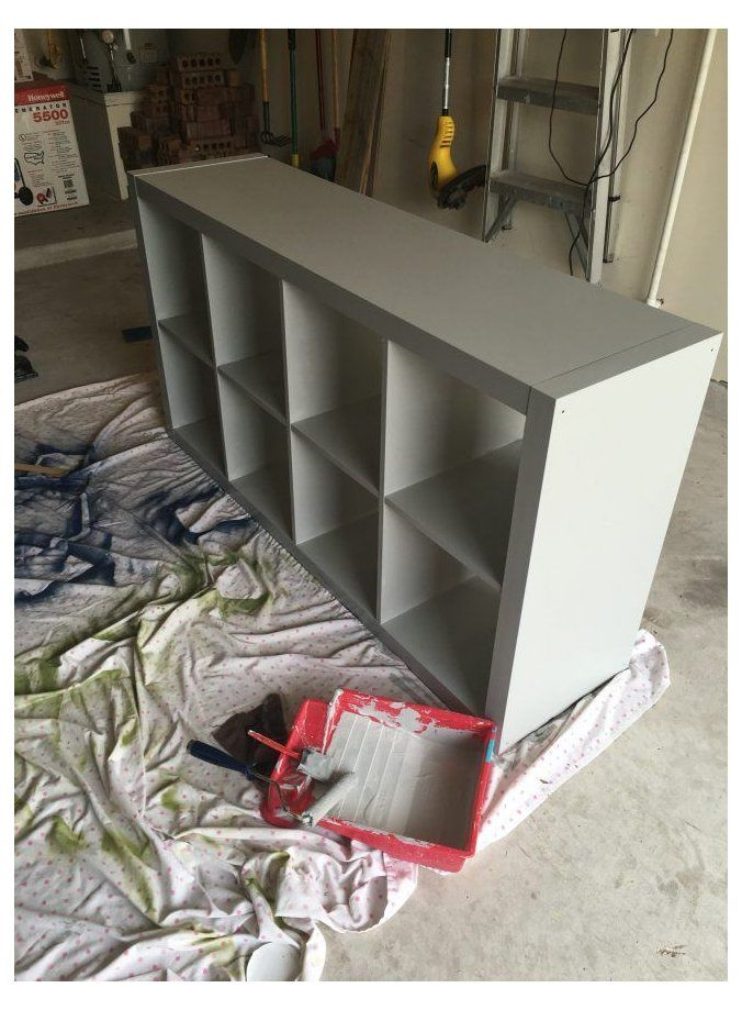 Painting And Updating Ikea Furniture Paint Kallax Ikea Paintkallaxikea In 2021 Painting Ikea Furniture Ikea Cube Shelves Ikea Furniture Makeover