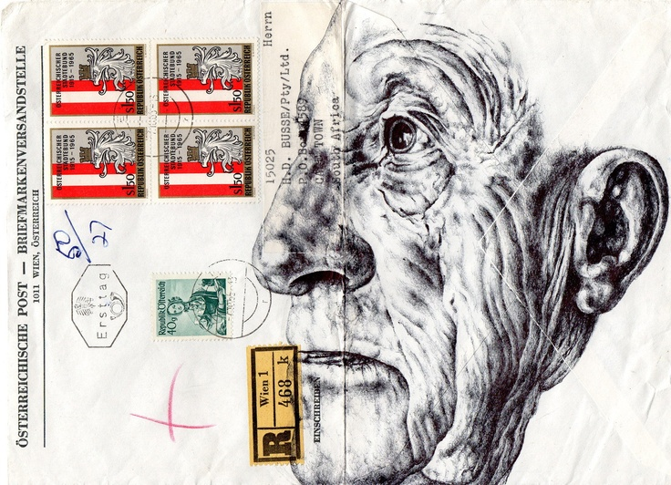 Bic Biro on 1943 envelope.