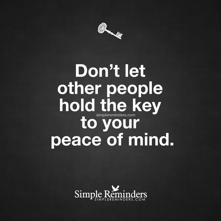 Your peace of mind by Unknown Author. Pinned By #TheLifeLinesStudio www.TheLifeLinesStudio.Etsy.com